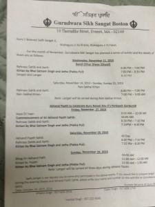 November Programs