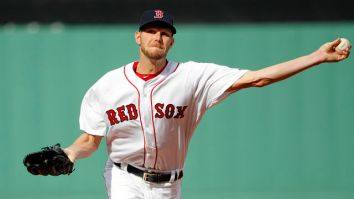 Apr 15, 2017; Boston, MA, USA; Boston Red Sox starting pitcher Chris Sale delivers a pitch against the Tampa Bay Rays during the first inning at Fenway Park. Mandatory Credit: Winslow Townson-USA TODAY Sports