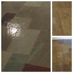 slate church floor restoration cohassett ma