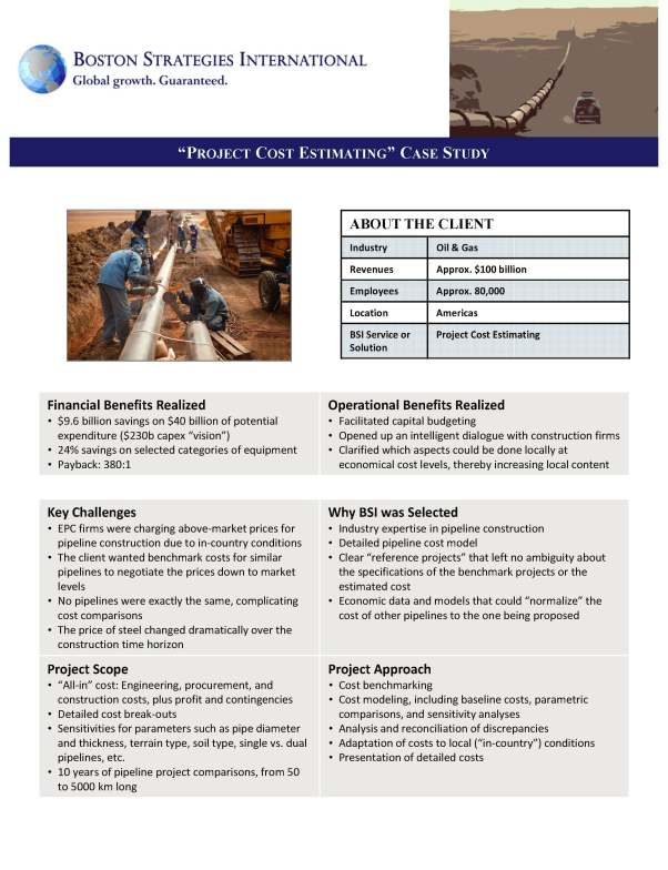 Pipeline Project Cost Estimating Case Study G 130913 150602 dj