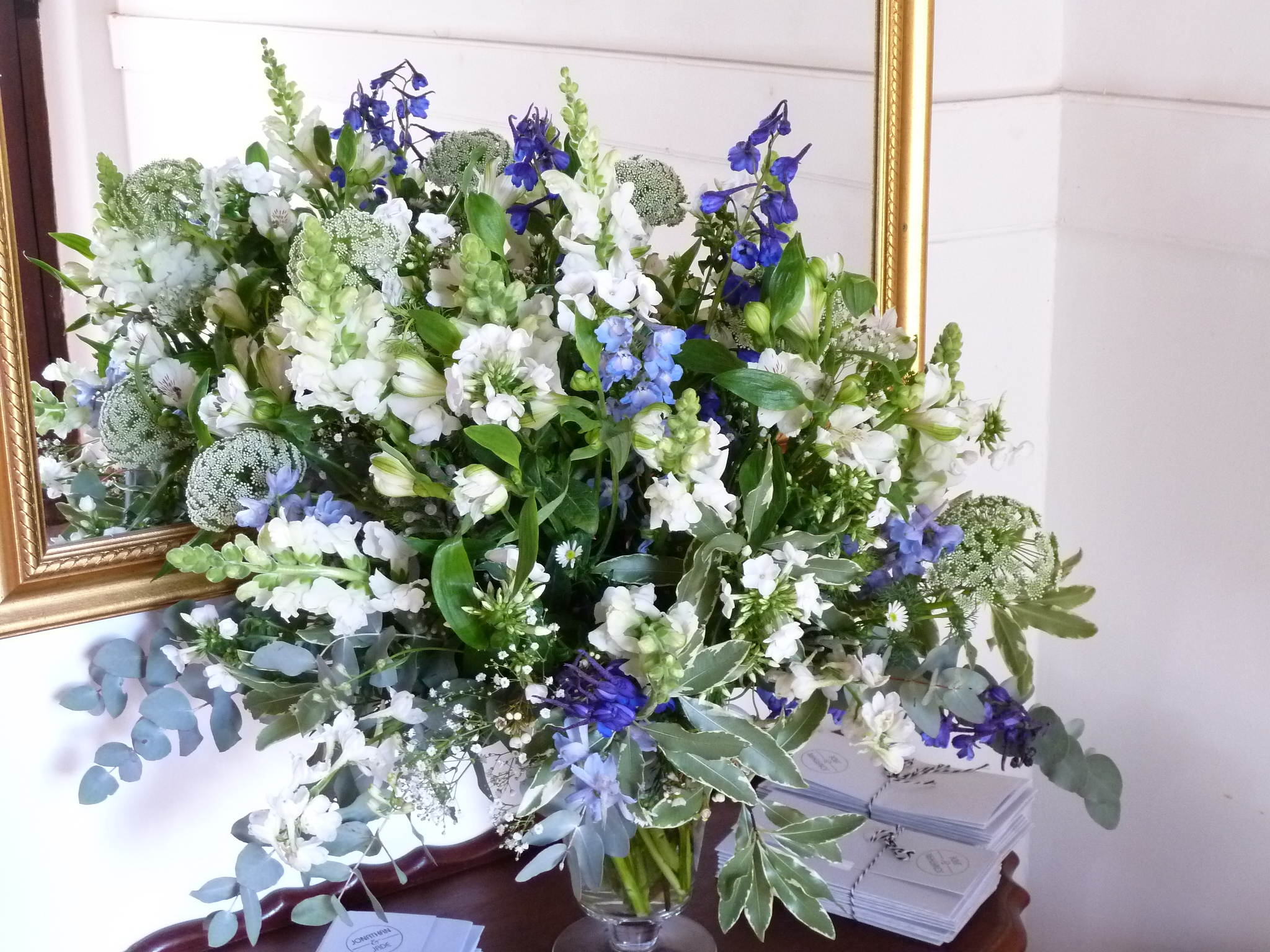 Jade's Blue And White Wedding