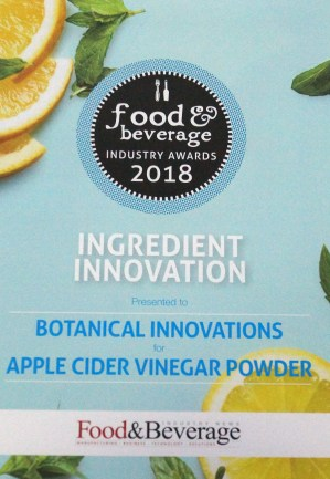 Food and Beverage Award 2018