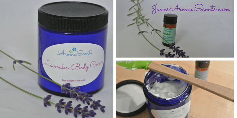 Lavender body creams, lavender essential oil