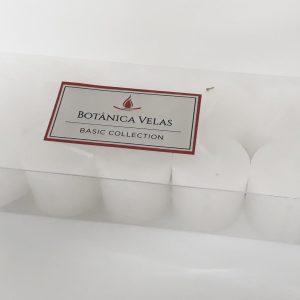 Conjunto de 10 velas pilares brancas 3,5×3,5cm