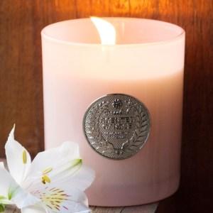 Vela em Pote de Vidro Fosco Rosa – Aroma Sweet Love