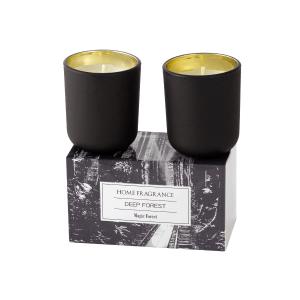 Kit c/2 Velas em Vidro Fosco c/ embalagem decorada – Com 2 opções de cores e aromas