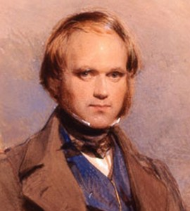 Image: portrait of the 31-year-old Charles Darwin by George Richmond, 1840.