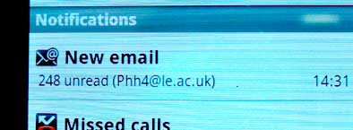 Back to reality: 77 hours without e-mails and 248 new ones!