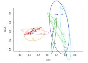 Plant species' origin mainly discriminates between belowground root-associated fungal communities according to principle coordinate analysis.