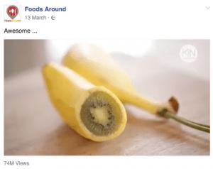 Kiwi in banana skin