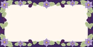 ナスの花フレーム