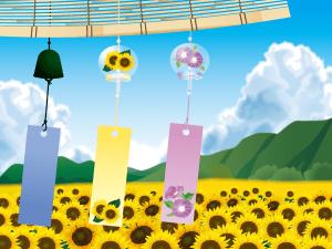 furin,風鈴とヒマワリ畑
