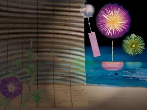 日本の夏の夜のイメージ