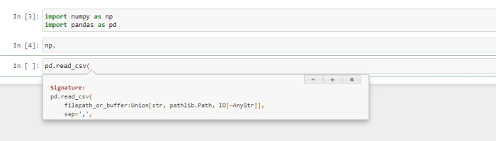 Intellisense or Autocomplete in Jupyter Notebook