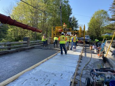 BC Bridge Pour 1 scaled - CA112556 - Middle Stella Ireland Rd. Bridge Wearing Surface Replacement
