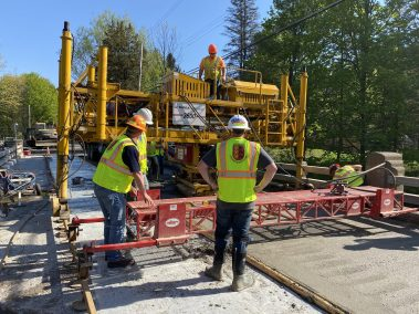 BC Bridge Pour 5 scaled - CA112556 - Middle Stella Ireland Rd. Bridge Wearing Surface Replacement
