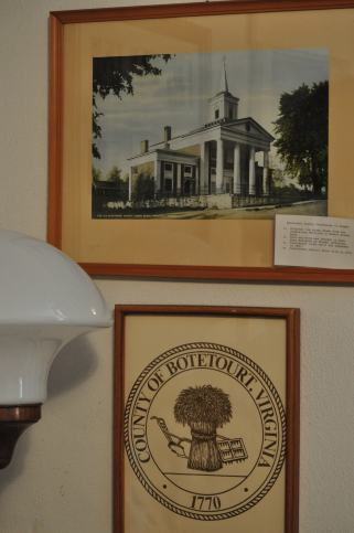Painting of the Botetourt County Courthouse