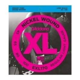 D'Addario EXL170 NICKEL ROUND WOUND ELECTRIC BASS GUITAR STRINGS