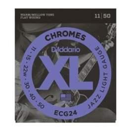 D'Addario ECG24 CHROMES FLAT WOUND ELECTRIC GUITAR STRINGS