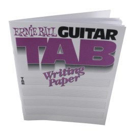 Ernie Ball GUITAR TAB WRITING PAPER BOOK