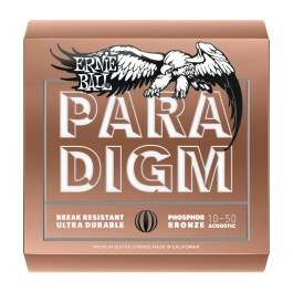 Ernie Ball Paradigm Phosphor Bronze Acoustic Guitar Strings 10-50 Gauge