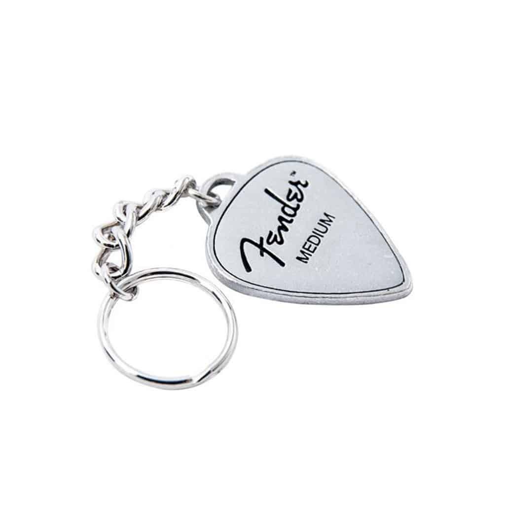 Fender Guitar Pick Pewter Keyring  64b25a044