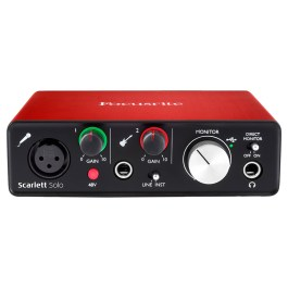 Focusrite SCARLETT SOLO AUDiO INTERFACE  V2