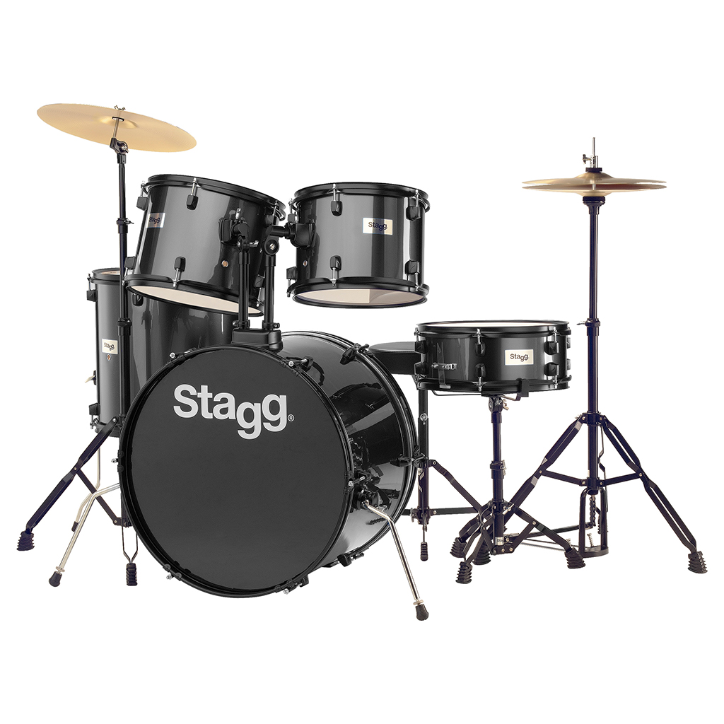 Stagg Full SIZE STUDENT DRUM KIT BLACK (Clearance) | Paul Bothner Music |  Musical instrument stores