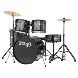 Stagg Full SIZE STUDENT DRUM KIT BLACK (Clearance)