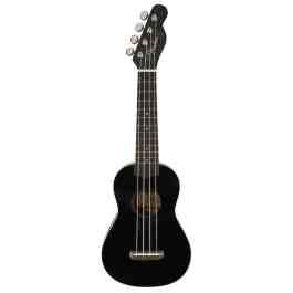 Fender VENICE SOPRANO UKULELE – Black Finish – Walnut Neck