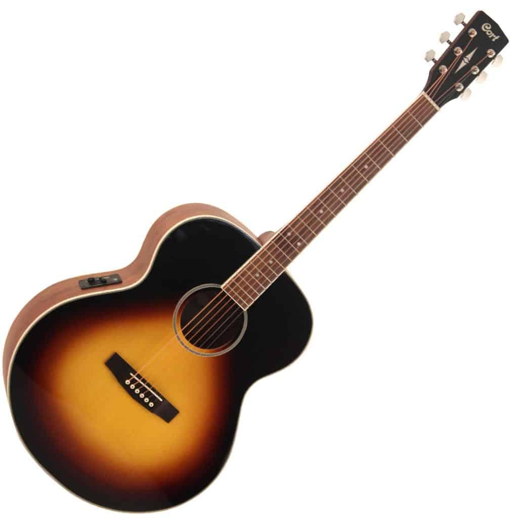 cort cj me vst acoustic electric jumbo guitar spruce top vintage sunburst paul bothner music. Black Bedroom Furniture Sets. Home Design Ideas