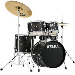 Tama IMPERIALSTAR 5-PIECE DRUM KIT – Black Oak Finish + Meinl HCS Cymbal Pack