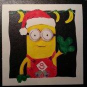 Santa Minion Card
