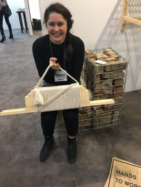 This is designer Hannah Vaughan with her DIY shaker chair kit
