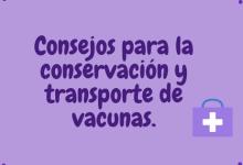 Consejos para la conservación y transporte de vacunas