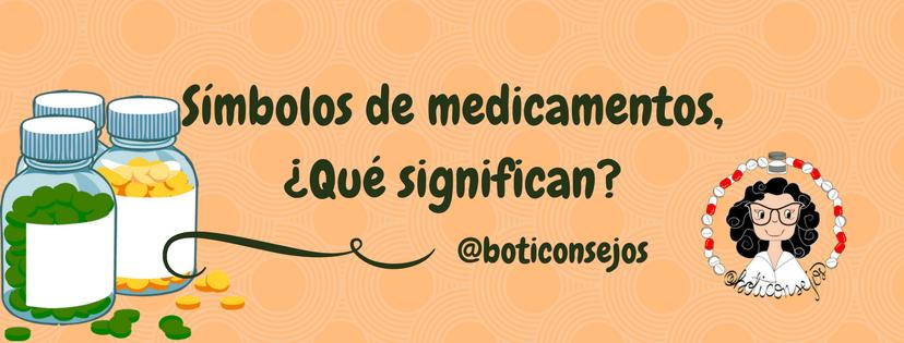 Símbolos de medicamentos, ¿Qué significan?