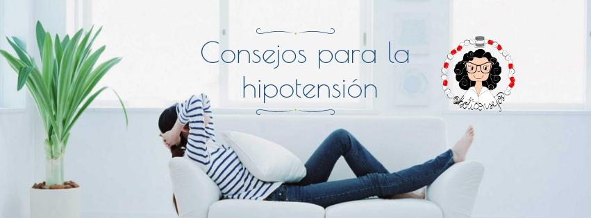Consejos para la hipotensión