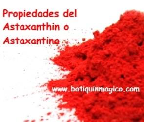 Propiedades del Astaxanthin
