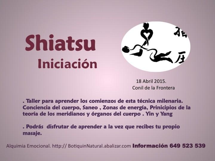 18 Abril 2015 - Shiatsu Iniciación - Conil de la Frontera
