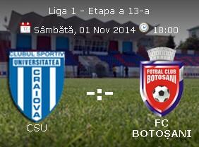 CSU Craiova- FC Botosani