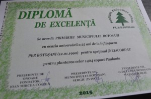 diploma primaria botosani partidul ecologist