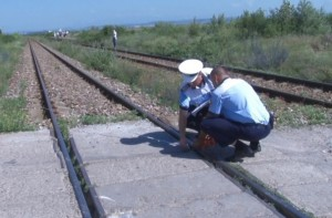 accidentat mortal de tren- cale ferata- politisti