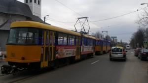 tramvaie blocate- Eltrans Botosani