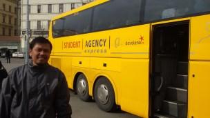 Salah satu bus antar kota murah tapi layanan bintang 5 di Eropa