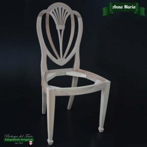 Anna Maria – Fusto per sedia in legno massello di noce