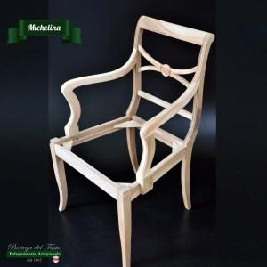 Michelina – Fusto per sedia in legno massello di noce