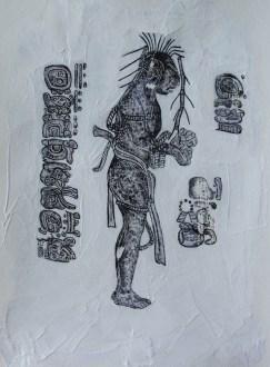 Sketch: Mayan Man I| 2016 | ORIGINAL SOLD | ©LESLIE M. GUZMÁN