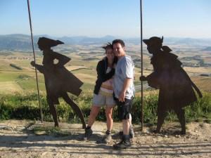 Chemin de Compostelle - Alto de Perdon - Espagne