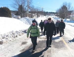 Ann Sieben en marche vers l'Ermitage