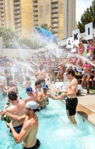 marquee pool party bottle service package